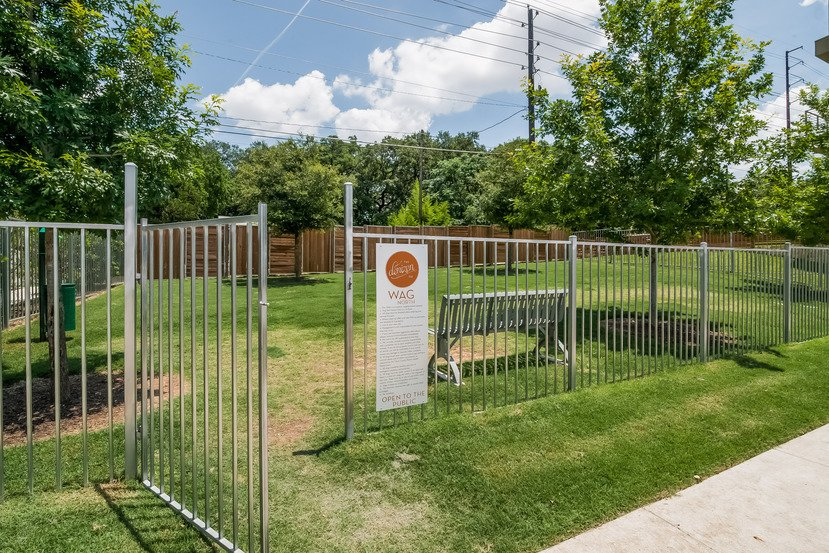 """Wag"" North, Dog park in the Denizen community in Austin, Texas.  Millennial Housing Trends"