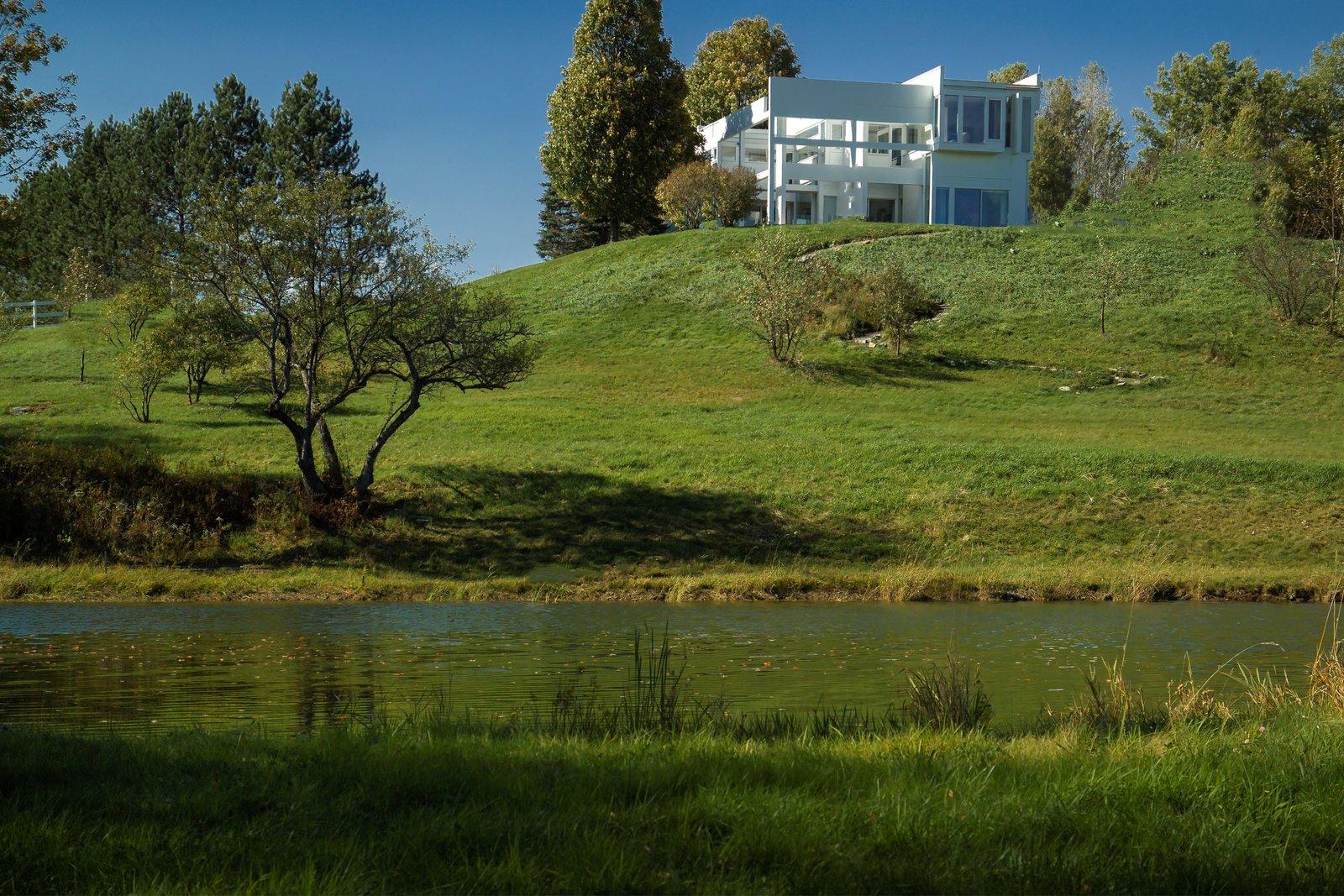 House II / Falk House: View across the pond  House II / Falk House