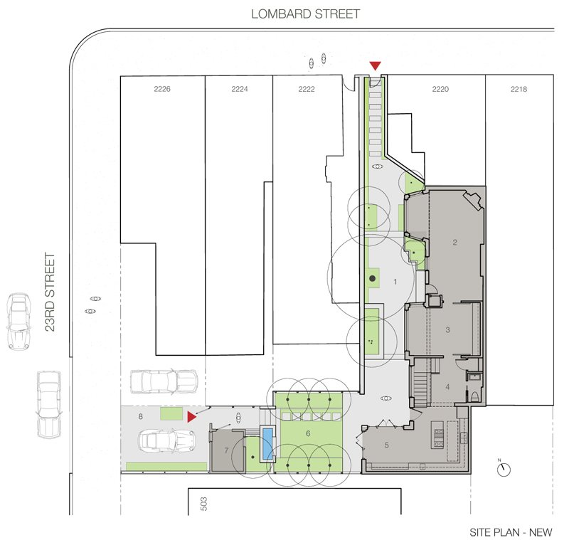 Site Plan, By RobitailleCurtis  Fitler Square House & Garden by RobitailleCurtis