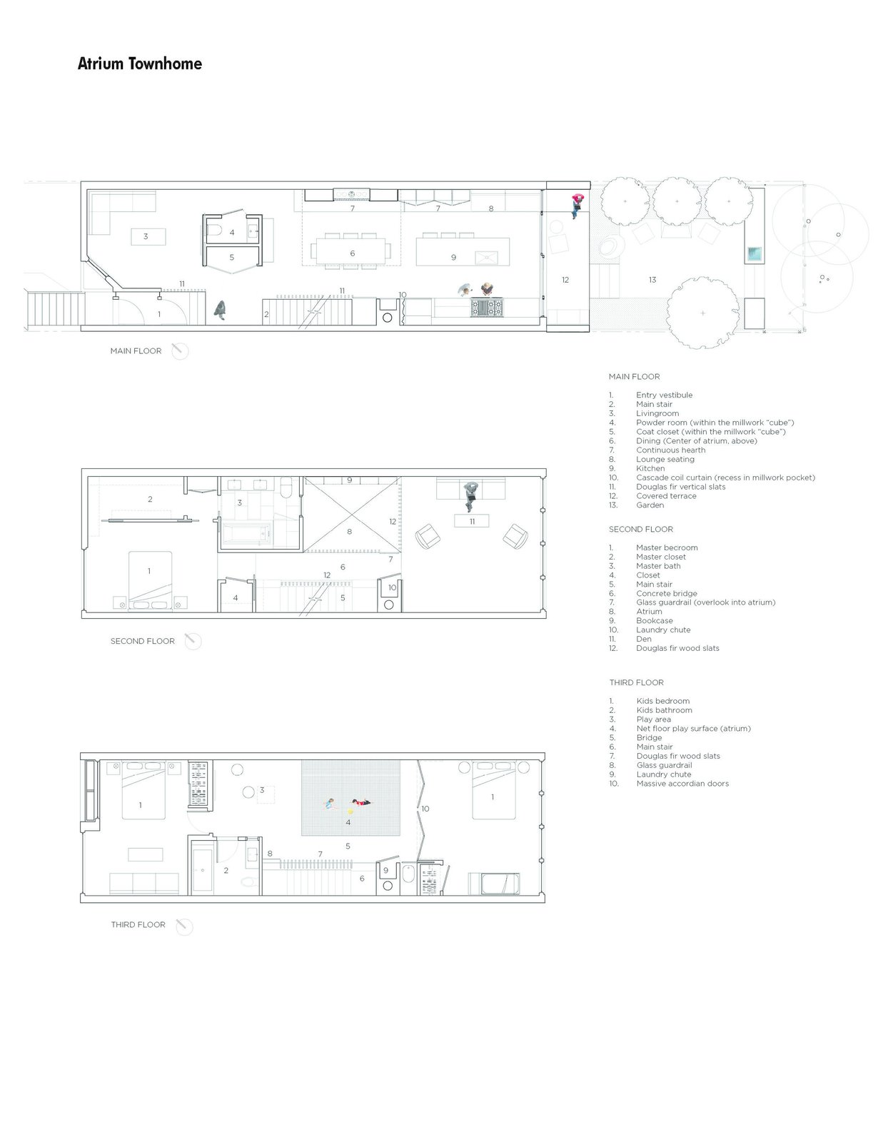 Floor plans  Atrium Townhome by RobitailleCurtis