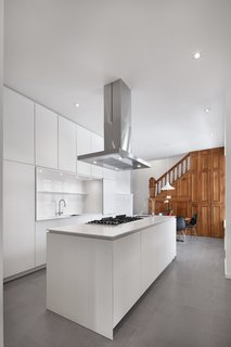 Custom cabinetry was designed by RobitailleCurtis, built by Kastella.