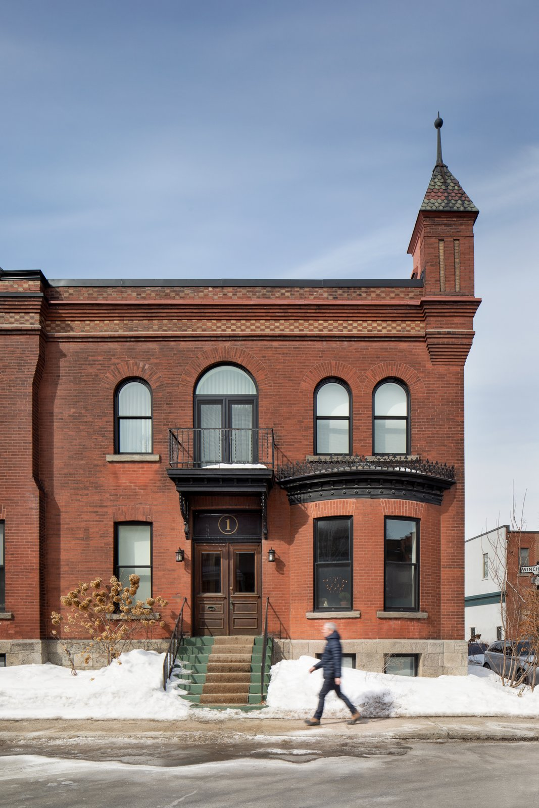Exterior, House Building Type, Flat RoofLine, and Brick Siding Material The front facade of this charming 1890's brick Victorian located in the Westmount neighborhood of Montreal.  RobitailleCurtis's office is just around the corner on Victoria Ave.  Winchester Residence by RobitailleCurtis
