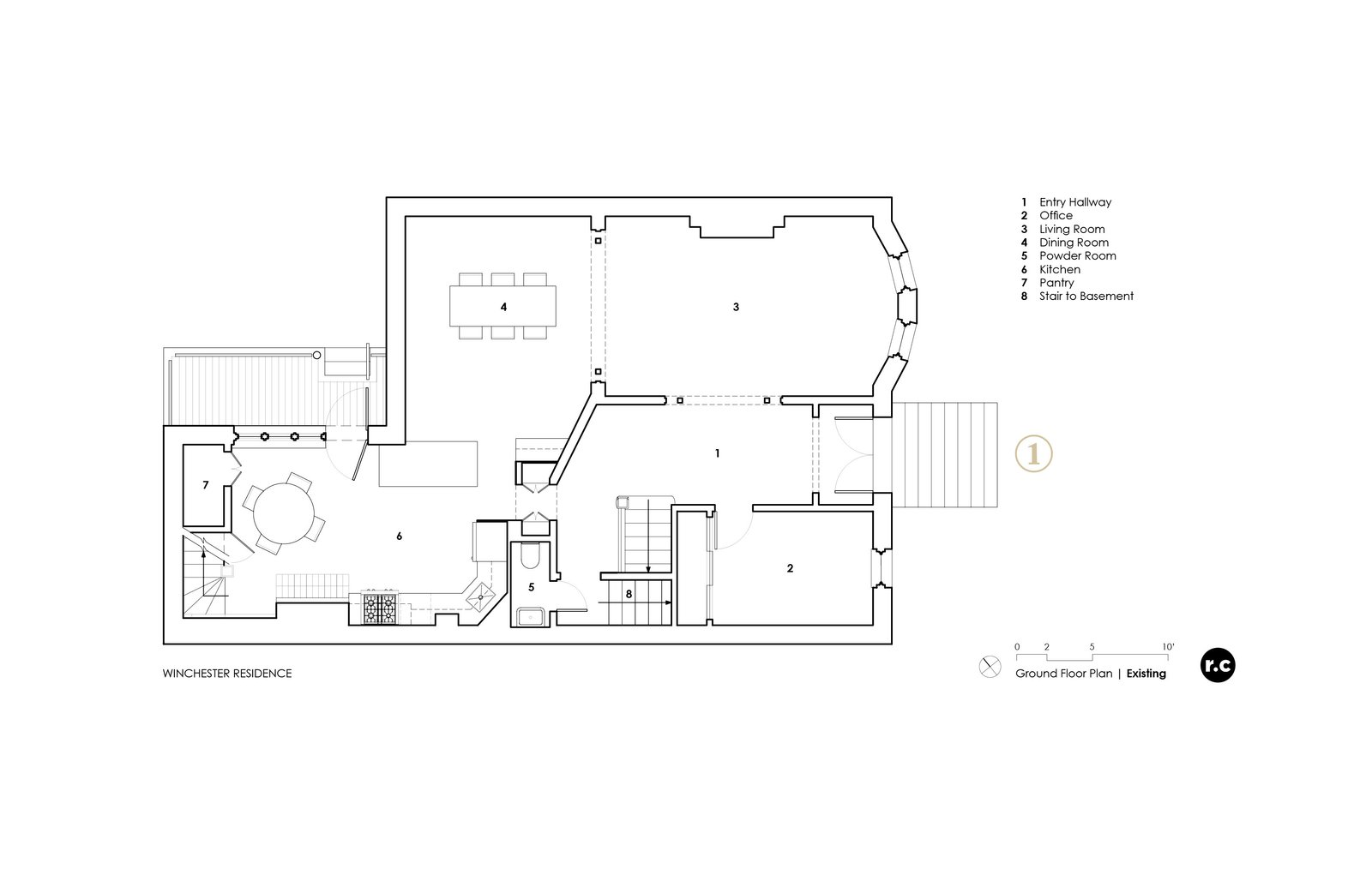 Plan - Before renovations  Winchester Residence by RobitailleCurtis