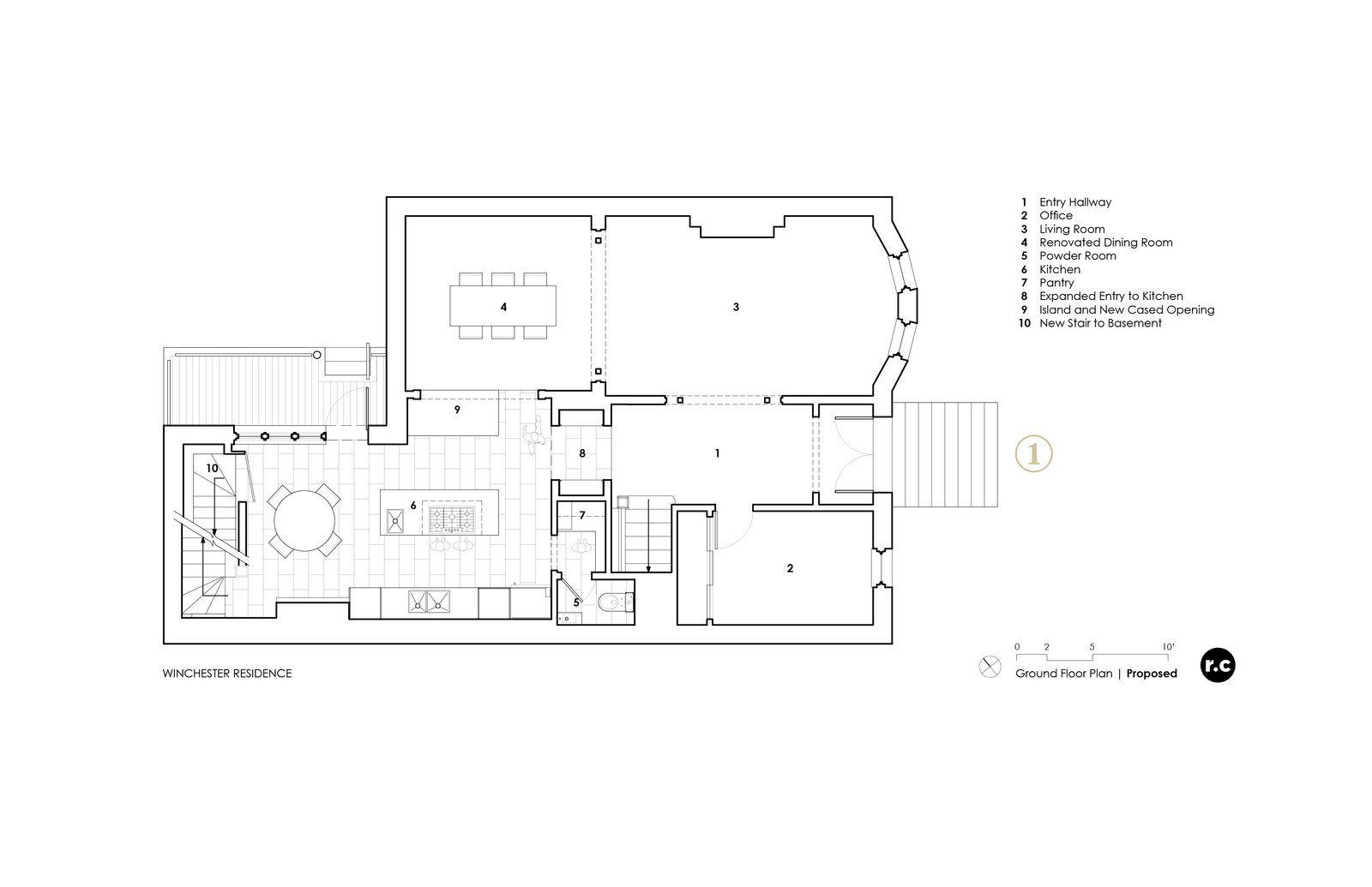 Plan - After renovations  Winchester Residence by RobitailleCurtis