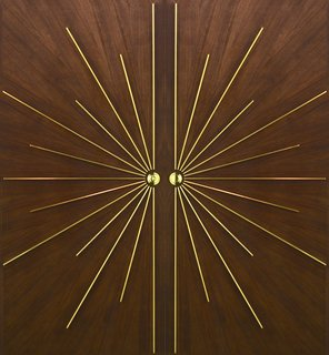 Our double radial walnut door, available for interior and exterior use.