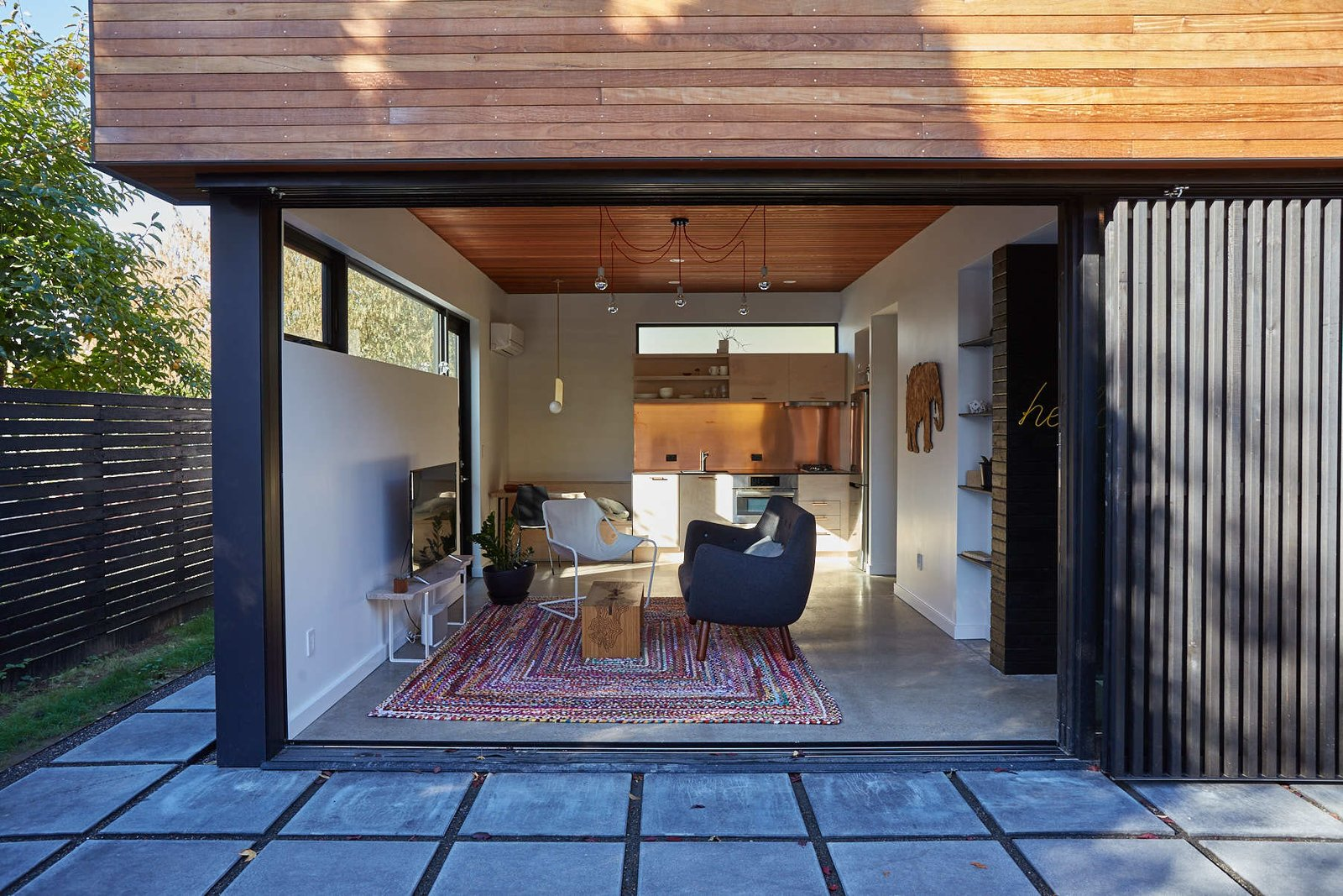 Outdoor Having the inside open to a patio makes it feel much larger  The Mansfield Frogner House