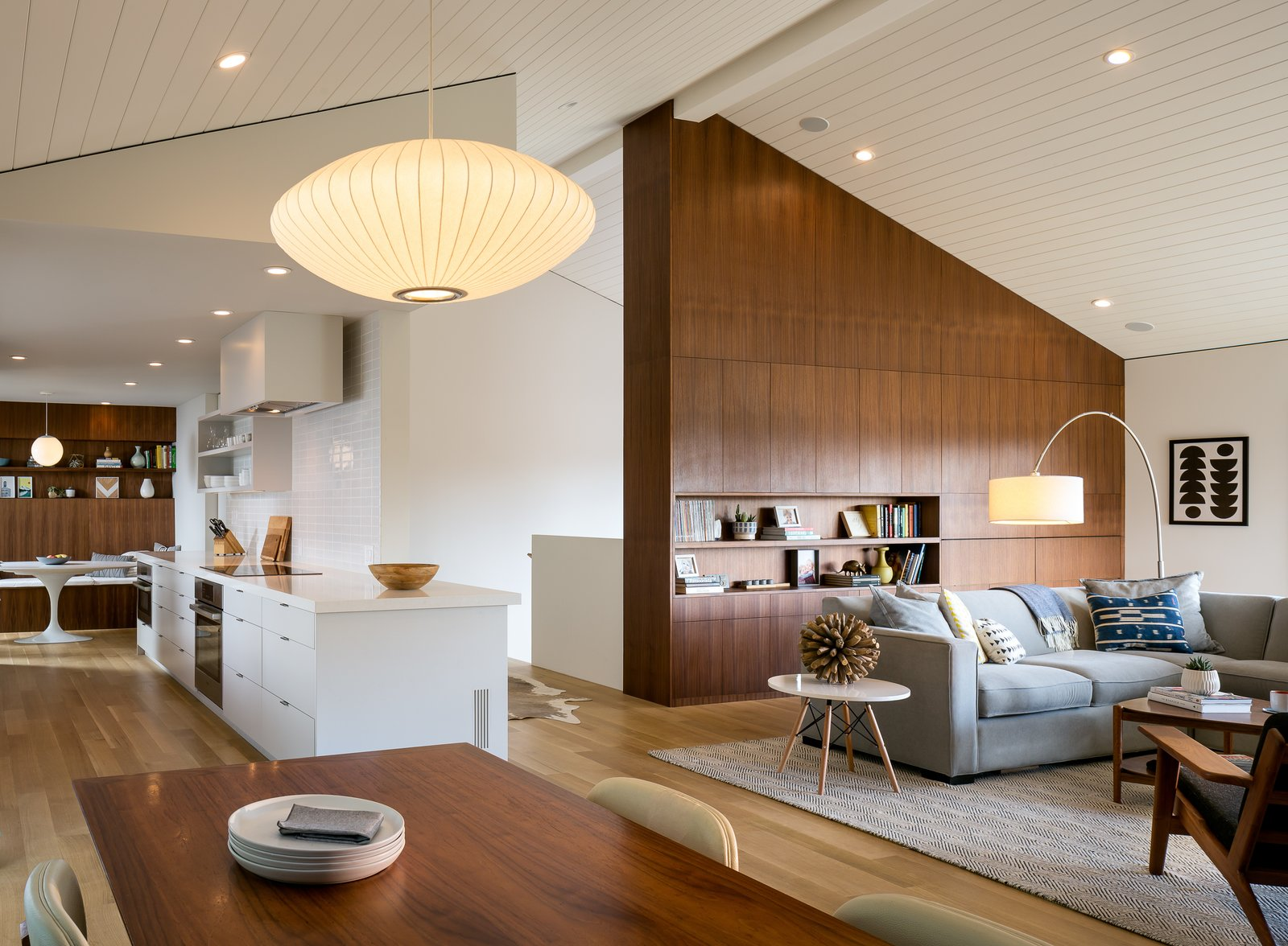 extraordinary houzz contemporary living room | Marin Midcentury Modern Home in Kentfield, California by ...