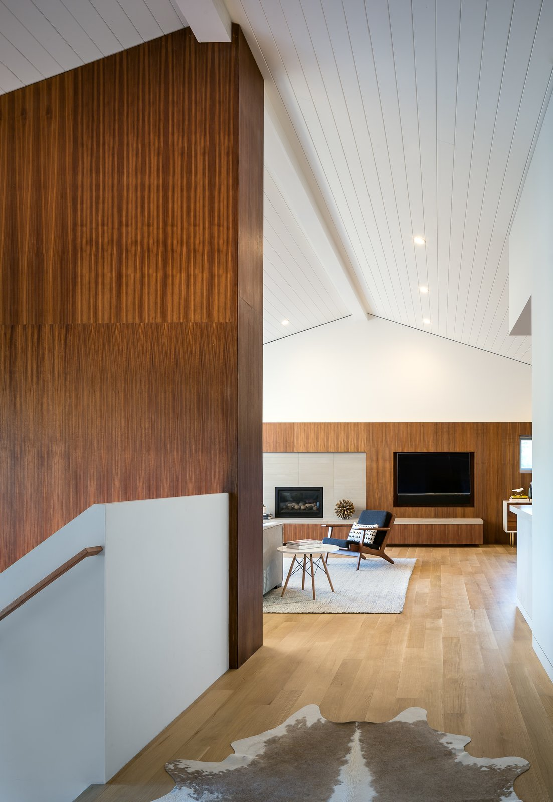 view of great room from hallway  Marin Midcentury by building Lab