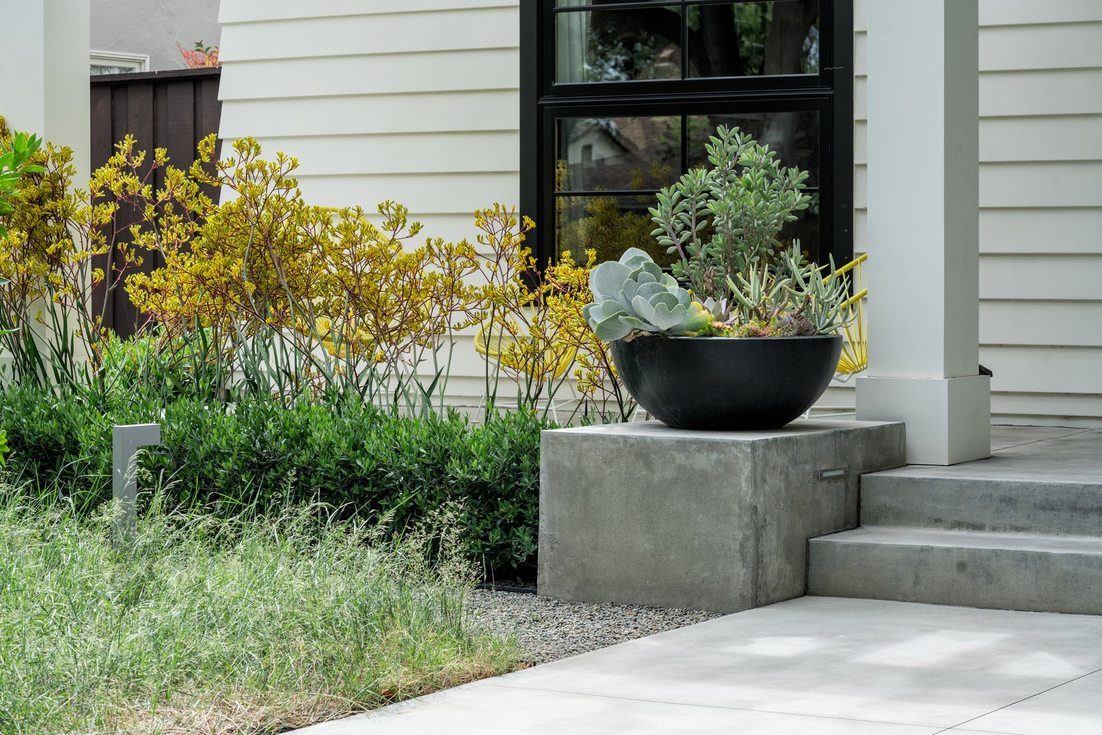 Large bowls for succulent collecting  Refreshing Bungalow by Randy Thueme Design