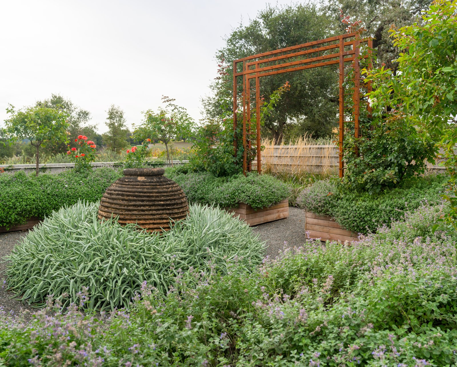 Outdoor, Gardens, Shrubs, Vegetables, Flowers, and Back Yard Cutting and rose gardens  Hilltop Haven by Randy Thueme Design