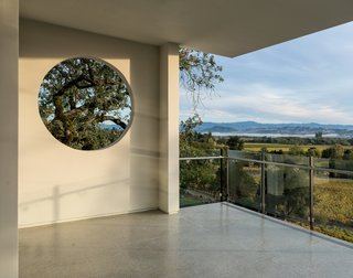 Framed views of the surrounding landscape from main floor level