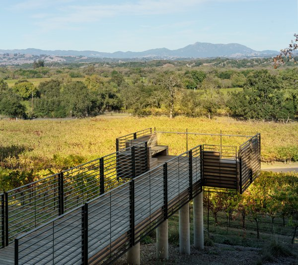 The belvedere vantage point to enjoy the vineyards