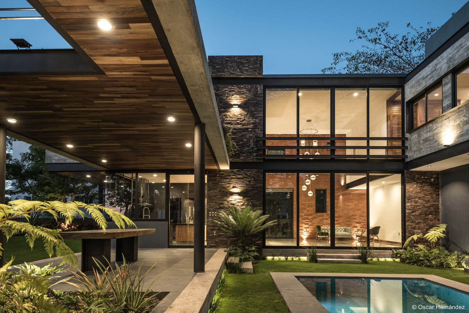 The pool view  Casa Kalyvas by Taller de Arquitectura