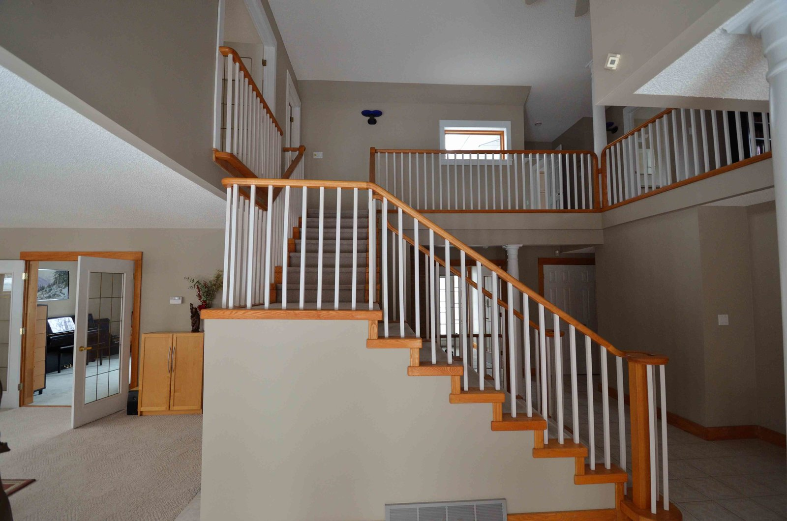 Staircase Existing Stair before re-model  Crestwood Re-Model by Mindy Gudzinski Design