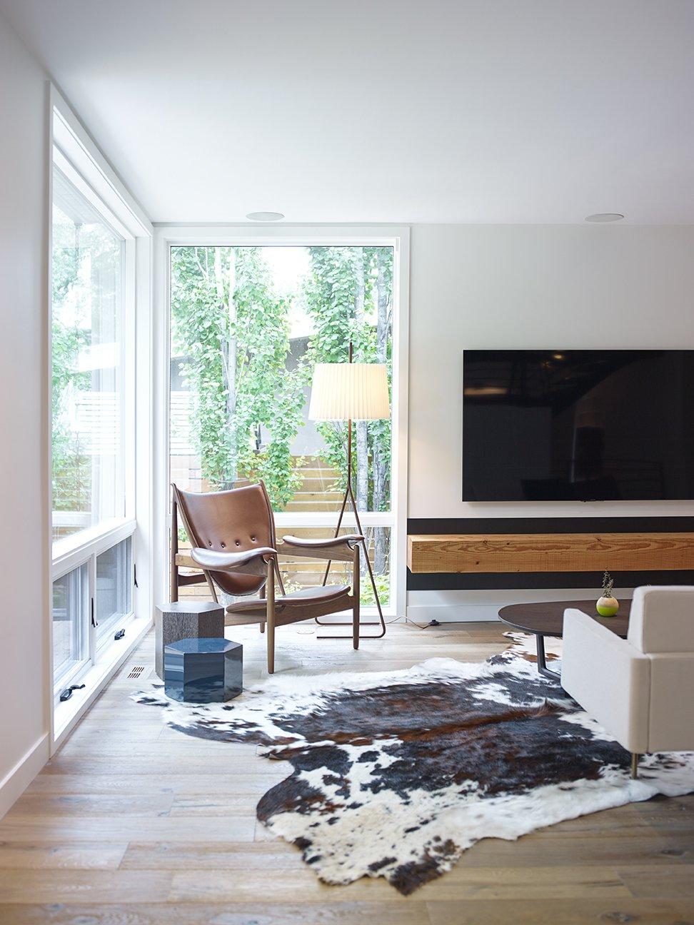 Living Room, Chair, Recessed Lighting, Medium Hardwood Floor, Sofa, Floor Lighting, and End Tables Living Room   Crestwood Re-Model by Mindy Gudzinski Design
