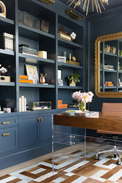 Home Office With Custom Millwork