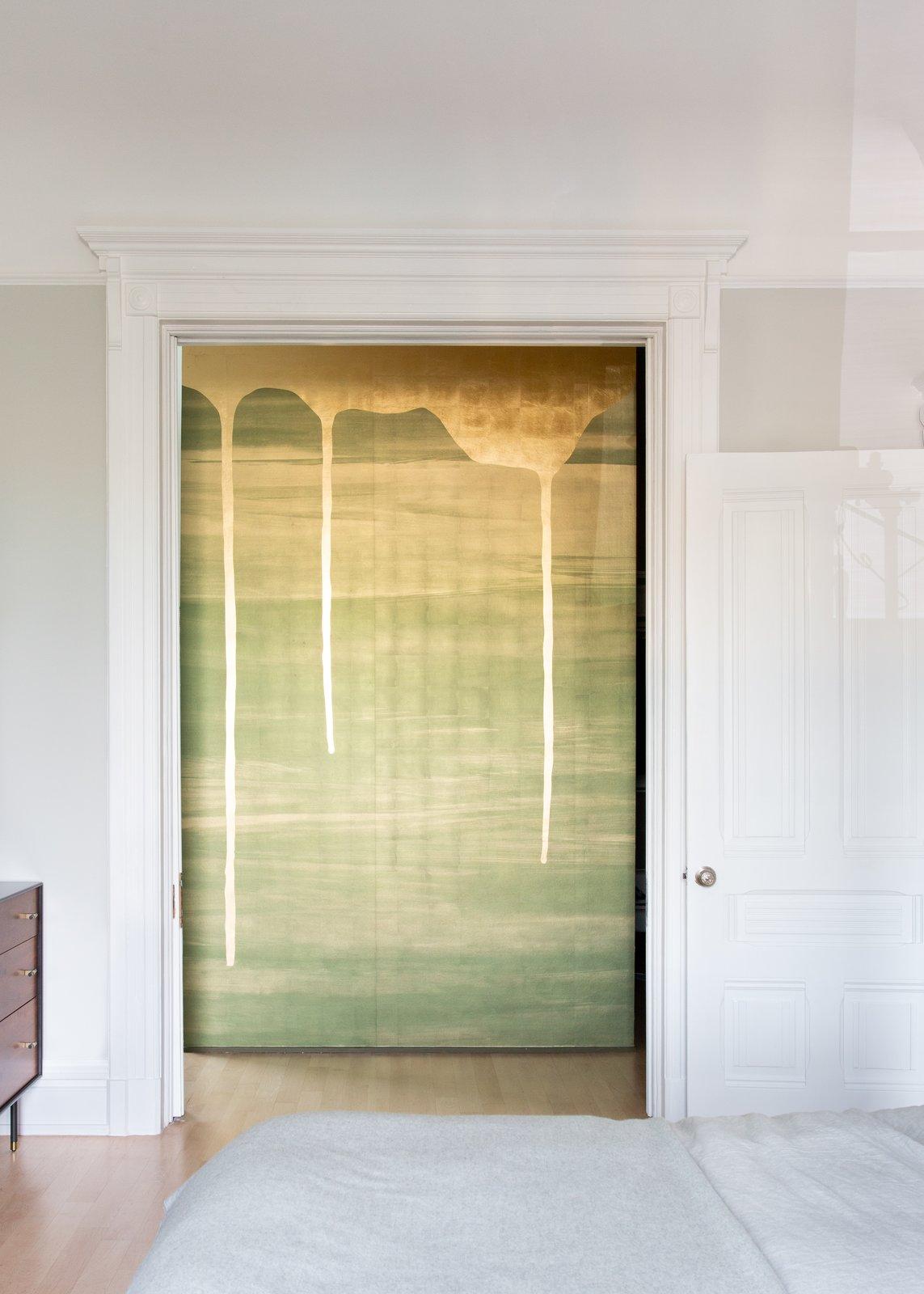 Hallway and Light Hardwood Floor Master Bedroom  Moody Mission Victorian by Regan Baker Design