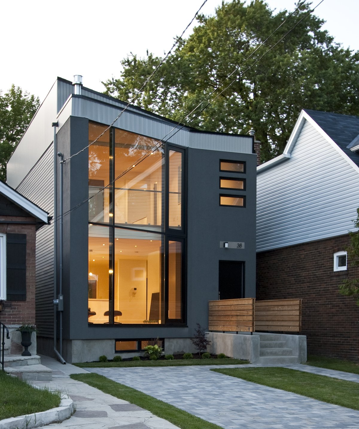Small House Elevation Design House Elevation: 63˚ House Modern Home In Toronto, Ontario, Canada By Rzlbd