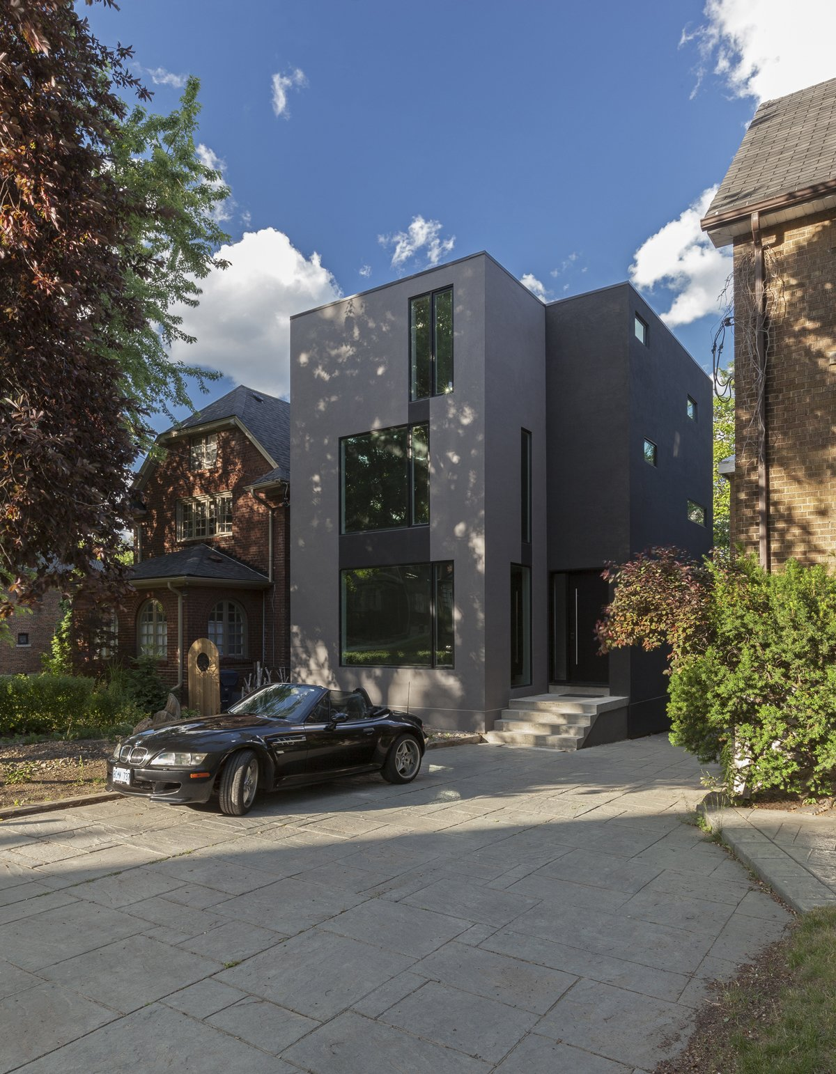 main elevation  Instar House by rzlbd