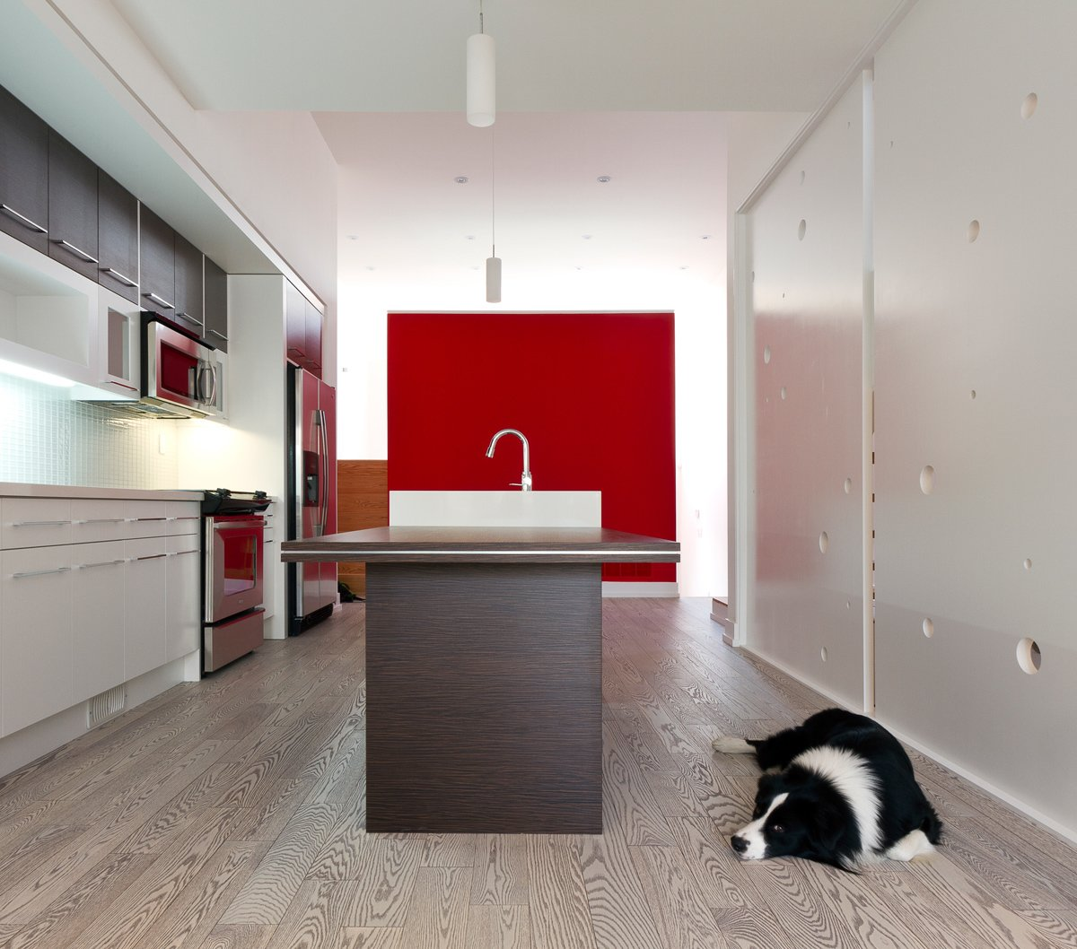kitchen & dining, looking toward the RED box  Whale House by rzlbd