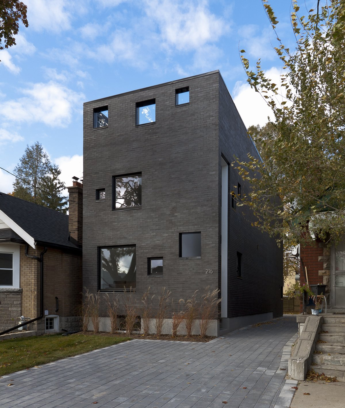 main elevation  Charcoal House by rzlbd