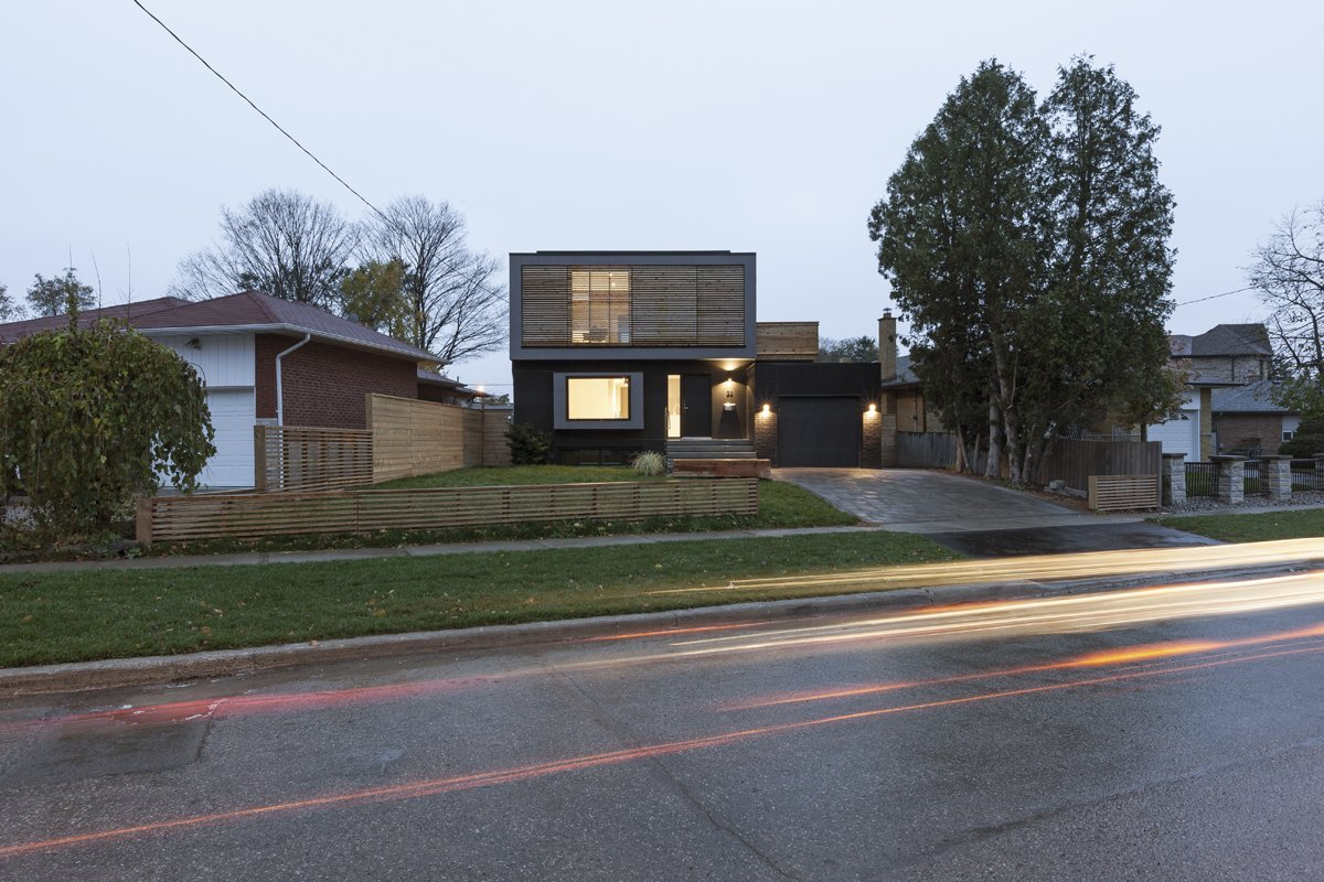 Exterior, House, Stucco, Brick, Flat, and Wood Main elevation  Exterior Stucco Brick Photos from Flipped House