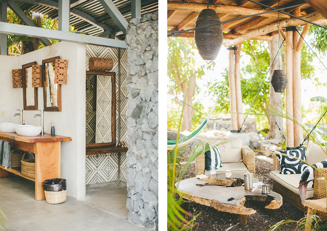 "Outdoor, Small Patio, Porch, Deck, and Shrubs ""I kept wondering why I didn't feel like an outsider. No one seemed to mind I was there, and I felt like I blended in,"" Kristin says. ""And that's what I love when I travel. I like to enjoy the food, the people, the experiences, and find ease in the beauty of a country."" It was on this day, their final day in Nicaragua, that Andrew and Kristin walked into a real estate office and requested one more tour of the island. Before the boat could make it back to the marina, Kristin and Andrew made an offer on the island they now own.  Photo 5 of 12 in Isleta El Espino: A Three-Room Eco Hotel on Lake Nicaragua"