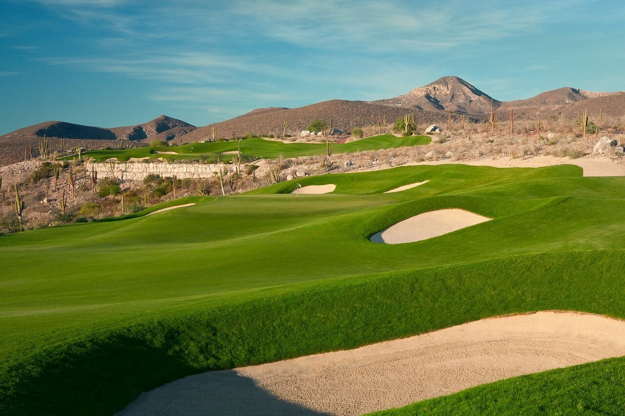 Lush, green fairways stand out amidst the desert landscape.  An Iconic Residential and Resort Community on the Sea of Cortez, Reimagined