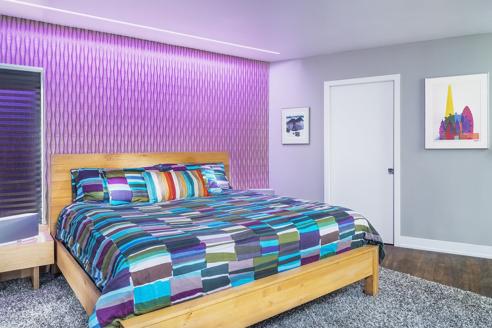 Reveal Wall Wash adds radiant illumination to this Los Angeles home  Bedroom