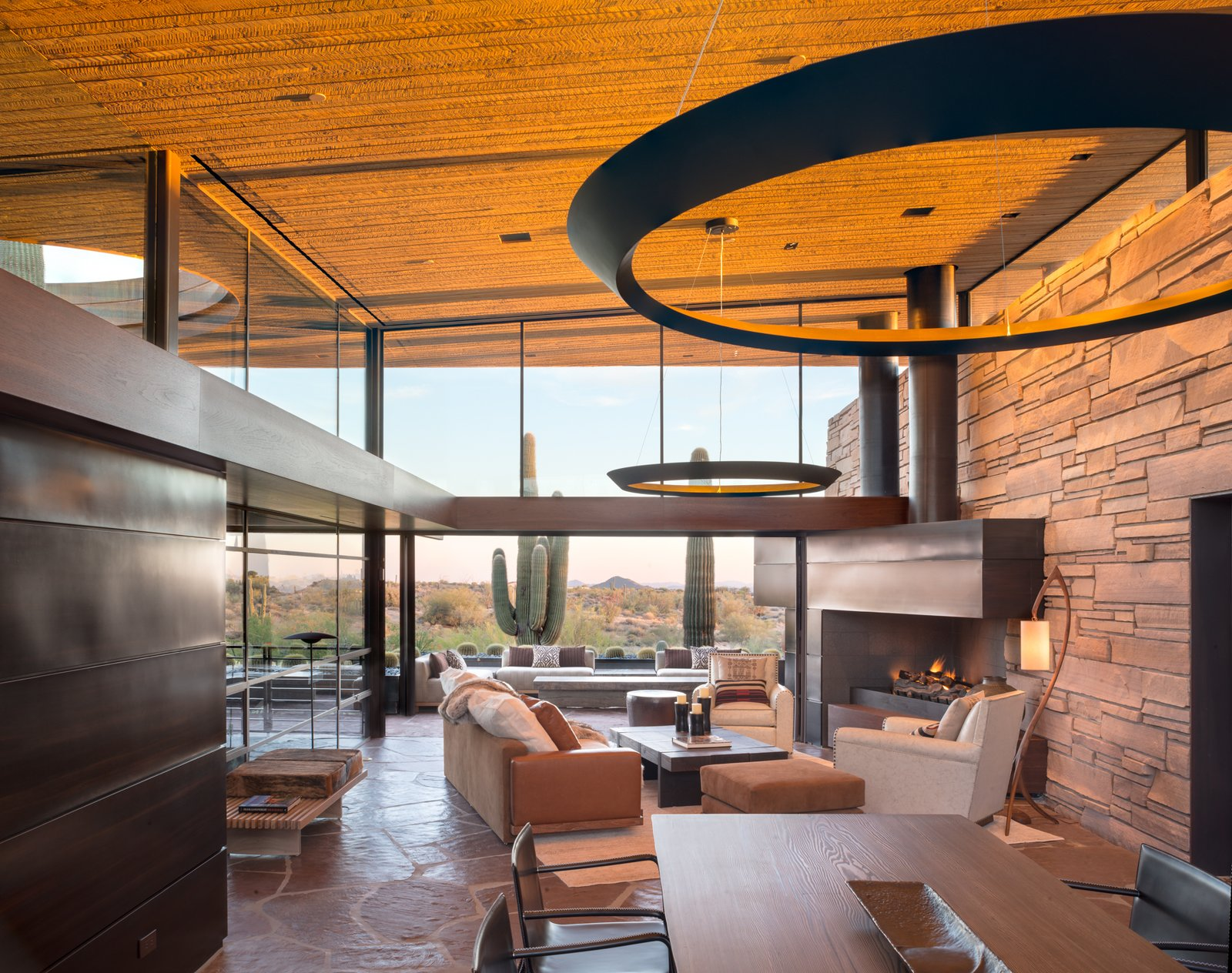 Living Room, Wood Burning Fireplace, Sofa, and Standard Layout Fireplace Great Room looking South  Best Photos from Saguaro Ridge/Orem Residence
