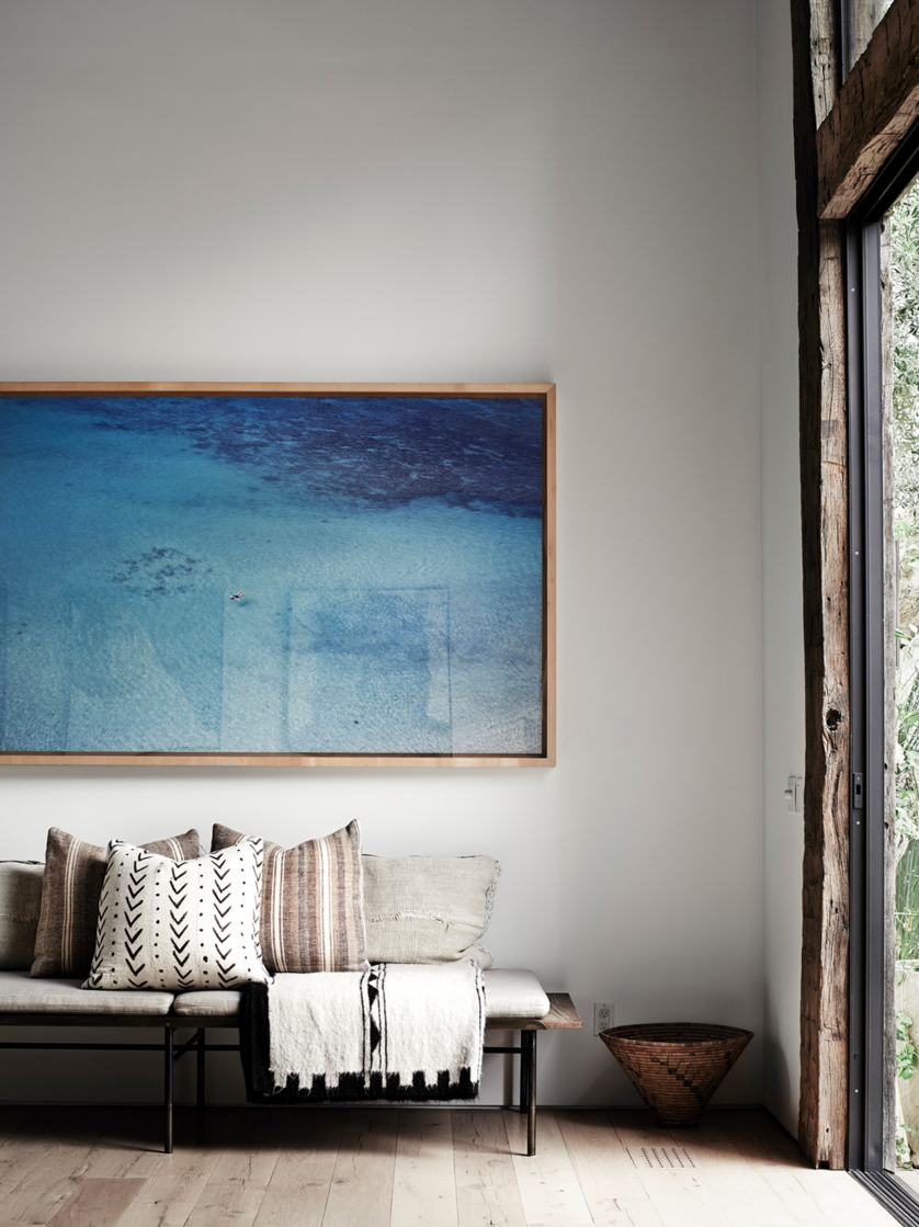 Go big and bold with large-scale art.  Photo 8 of 11 in 10 Effective Tips For Making the Most Out of Small Space Interiors