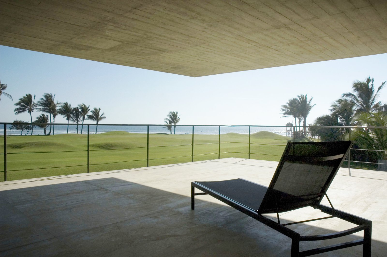 Outdoor, Stone Patio, Porch, Deck, and Field Terrace Level 2  La Caracola Beach House by PAUL CREMOUX studio
