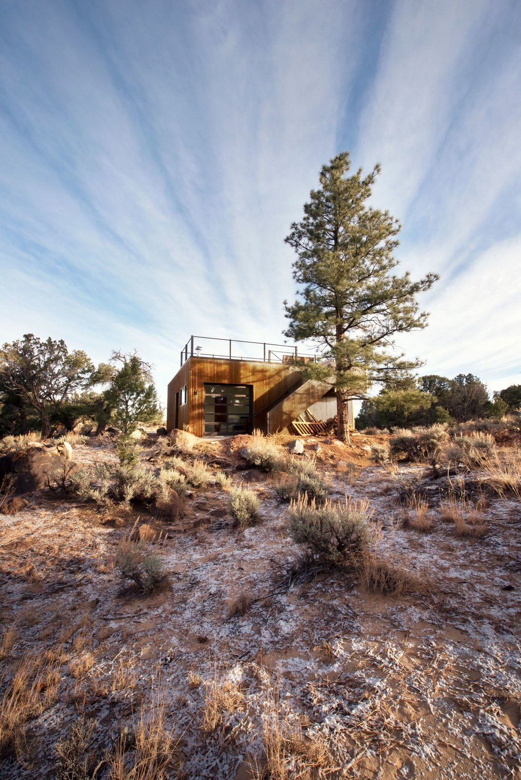 Garage with View Deck  Capitol Reef by Imbue Design