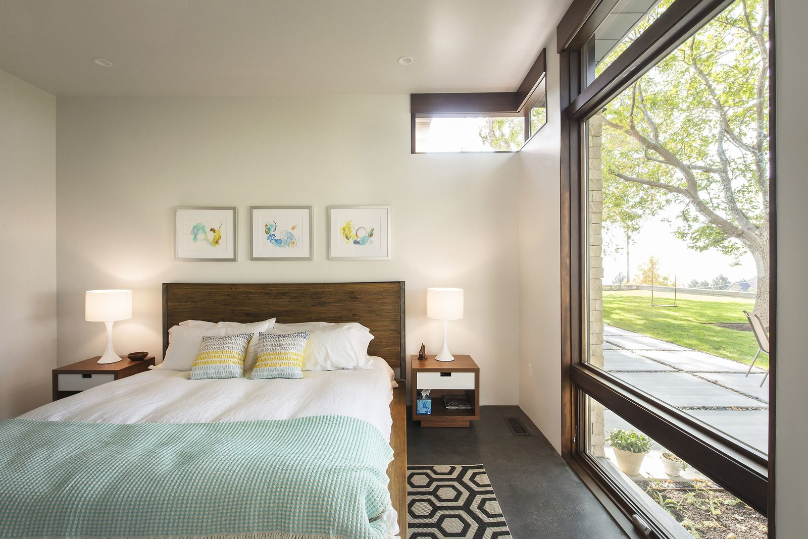 Master Bedroom  Rock Canyon Residence by Imbue Design