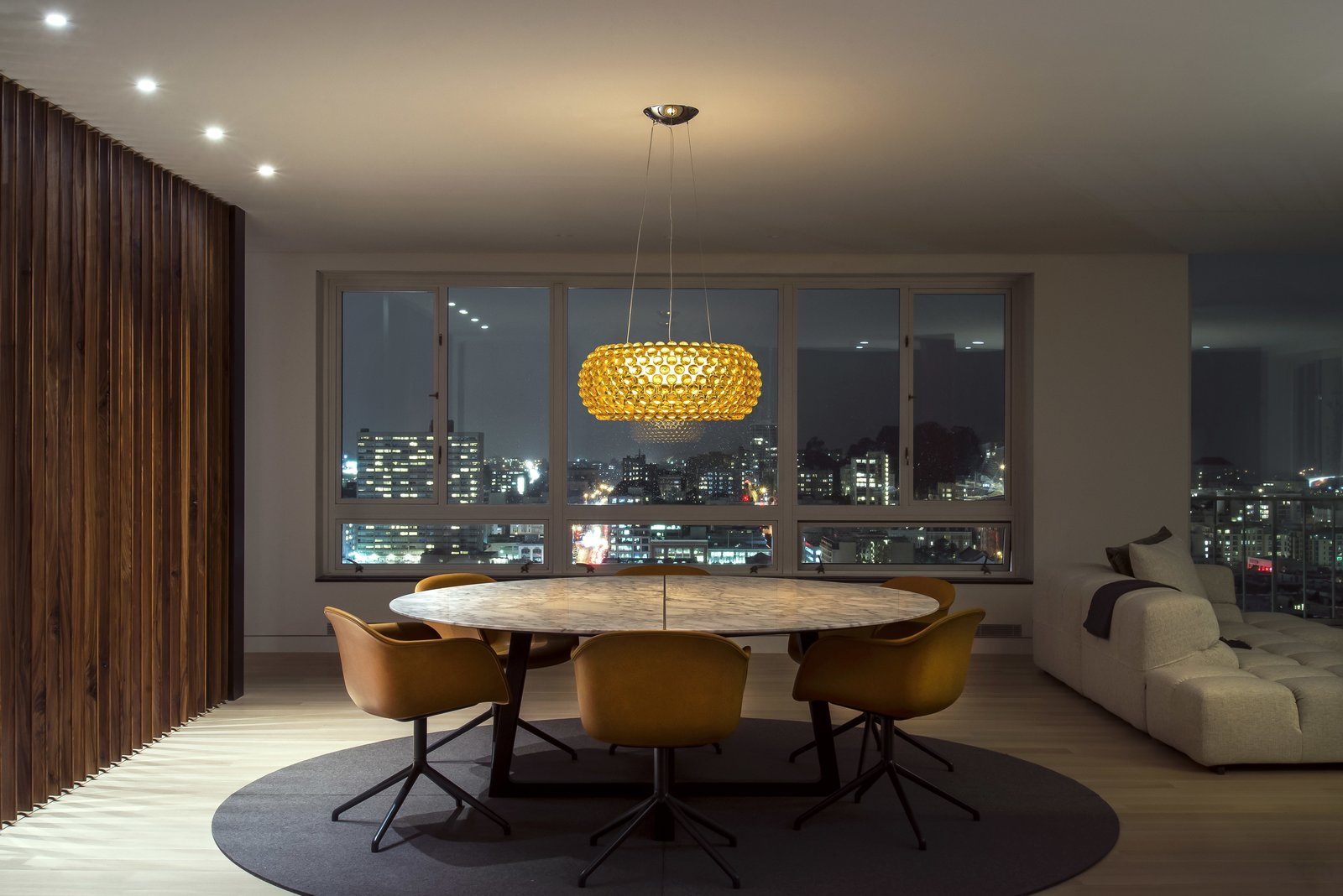 Dining Room - Night City View  Nob Hill Residence by Imbue Design