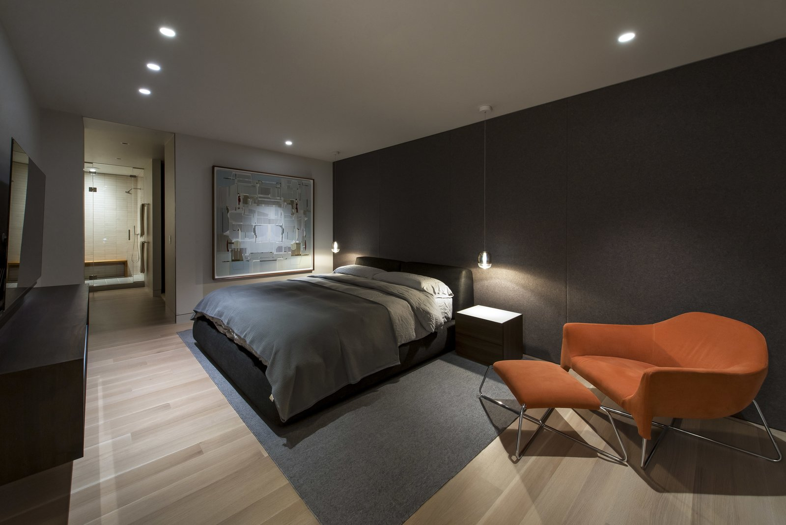 Master Bedroom - Night  Nob Hill Residence by Imbue Design