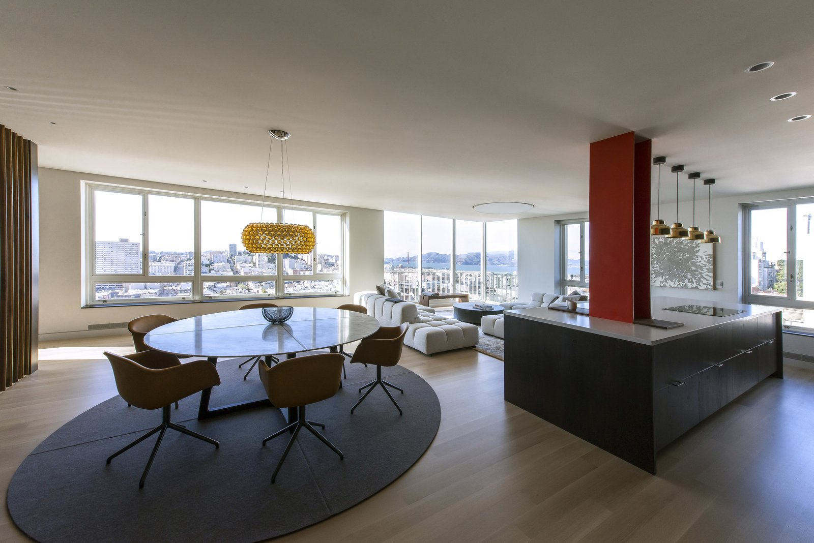 Living Room - Looking Toward the Golden Gate Bridge  Nob Hill Residence by Imbue Design