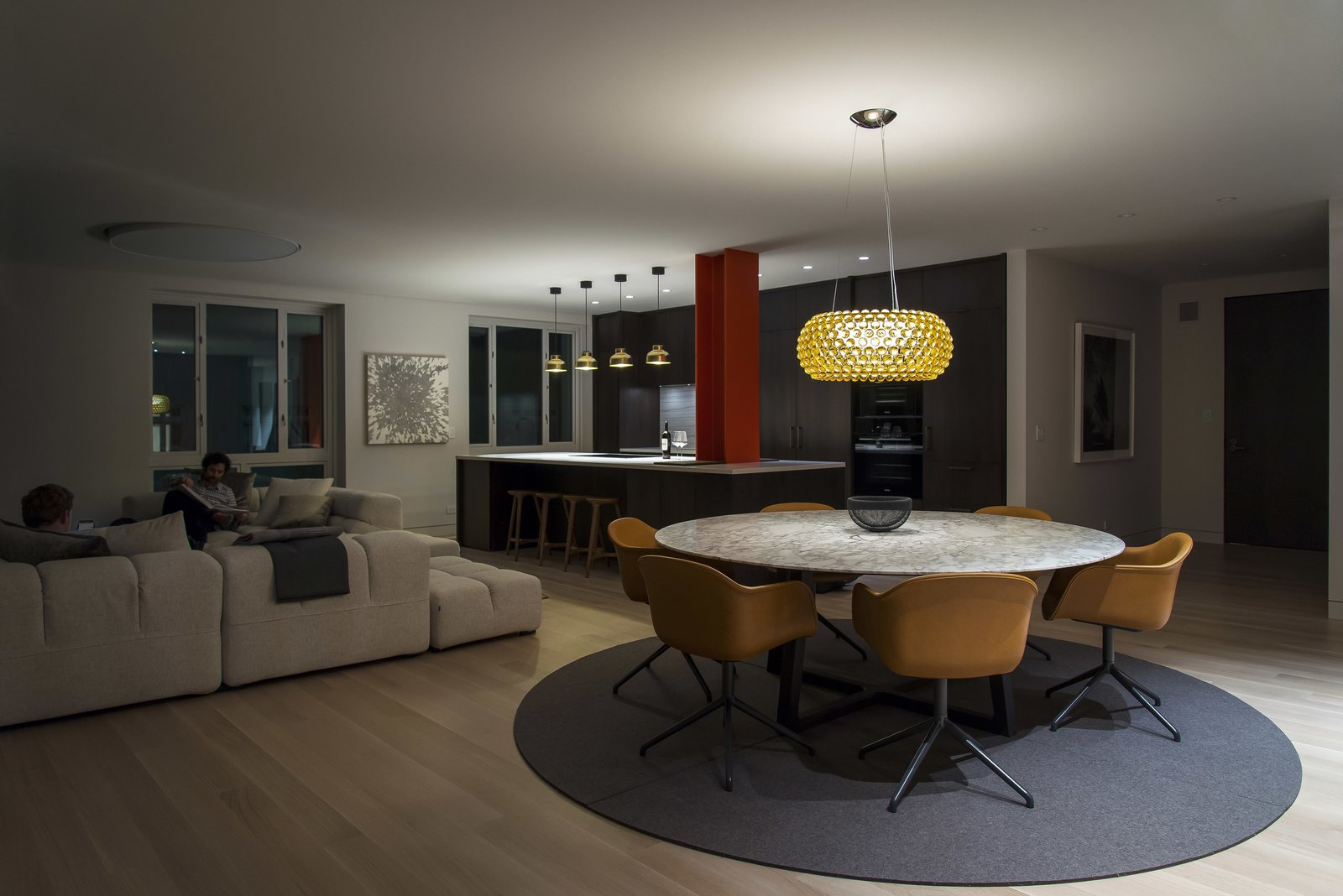 Dining Room - Looking Toward Kitchen  Nob Hill Residence by Imbue Design