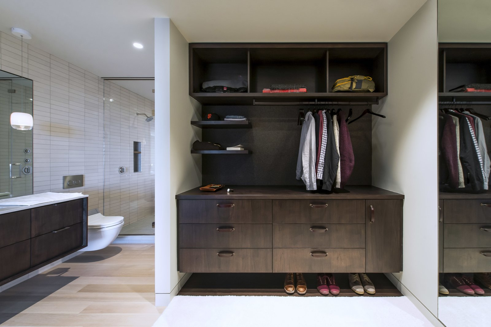 Master Closet  Nob Hill Residence by Imbue Design