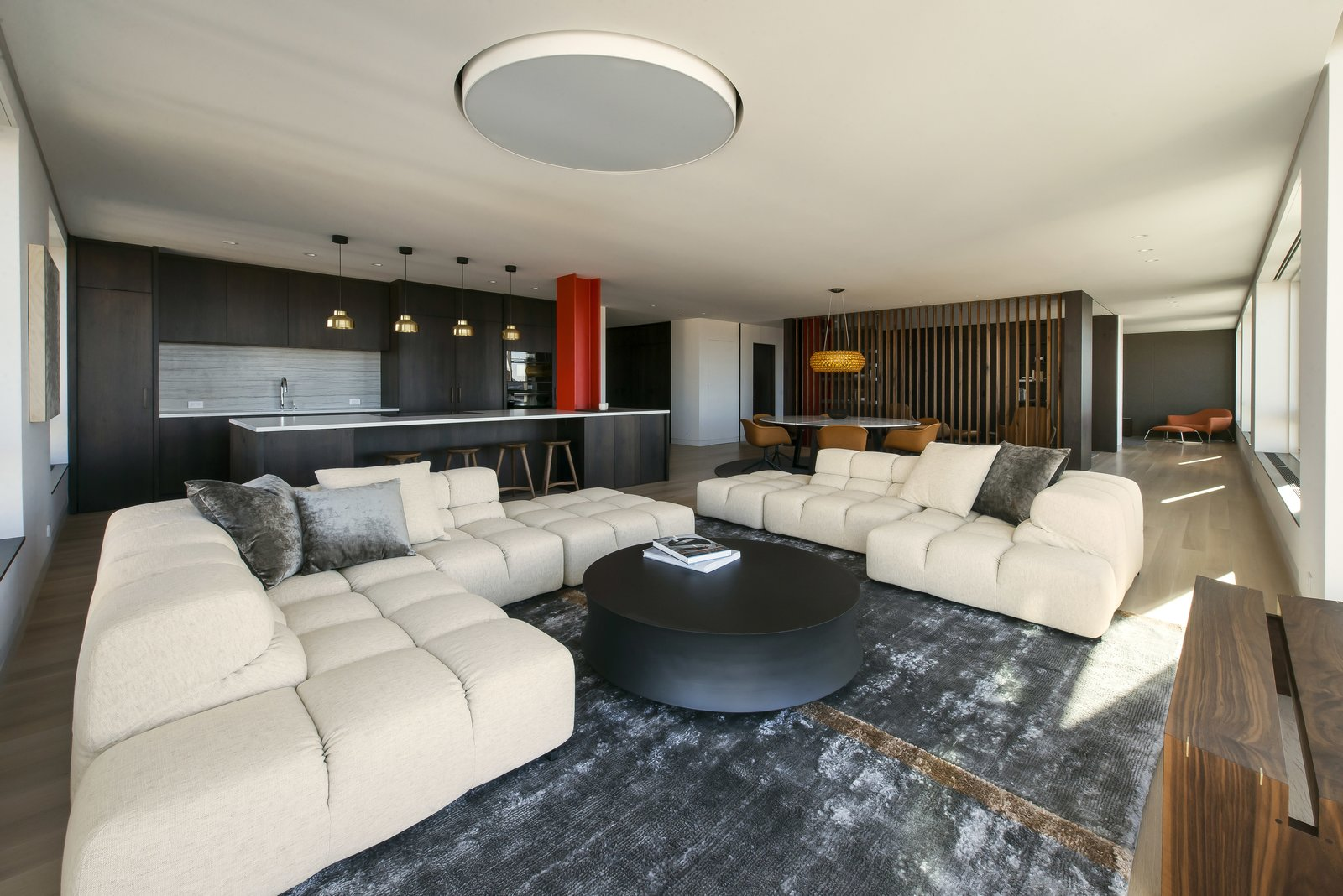 Living Room - Office Open  Nob Hill Residence by Imbue Design