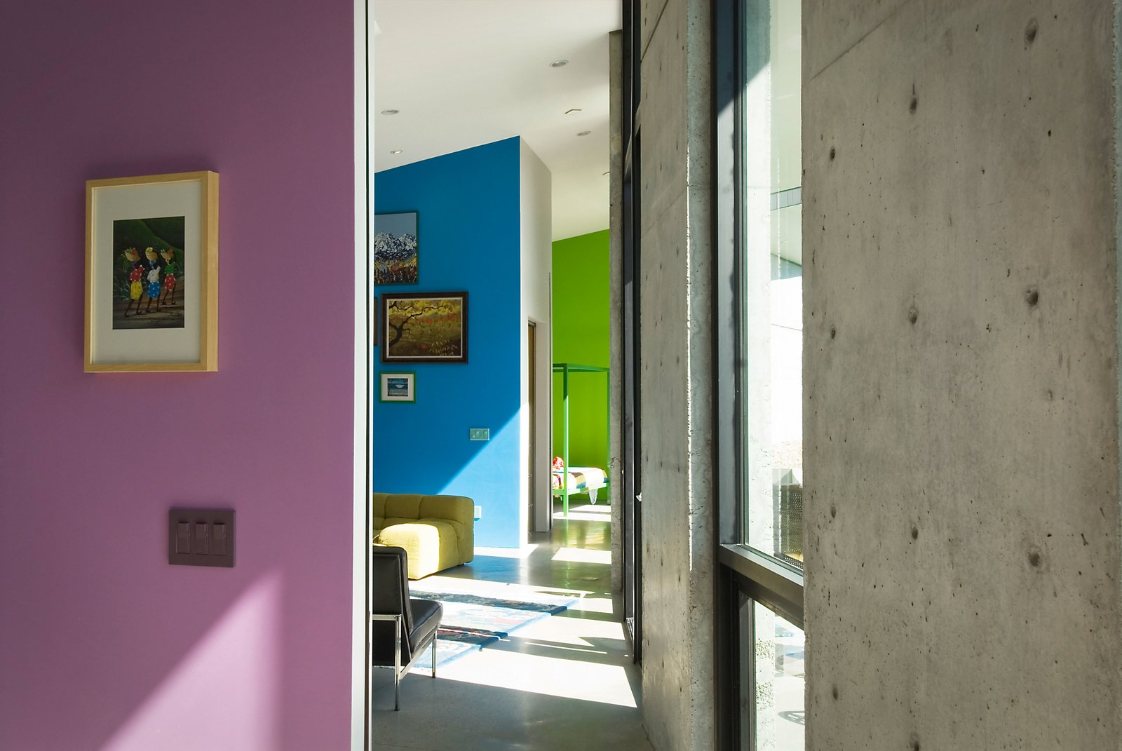 Colorful Hallway Enfilade  Thorn Residence by Imbue Design