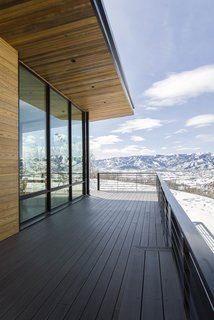 From the viewing deck the iconic ski slopes of Park City can be seen blanketed in the best snow on earth.
