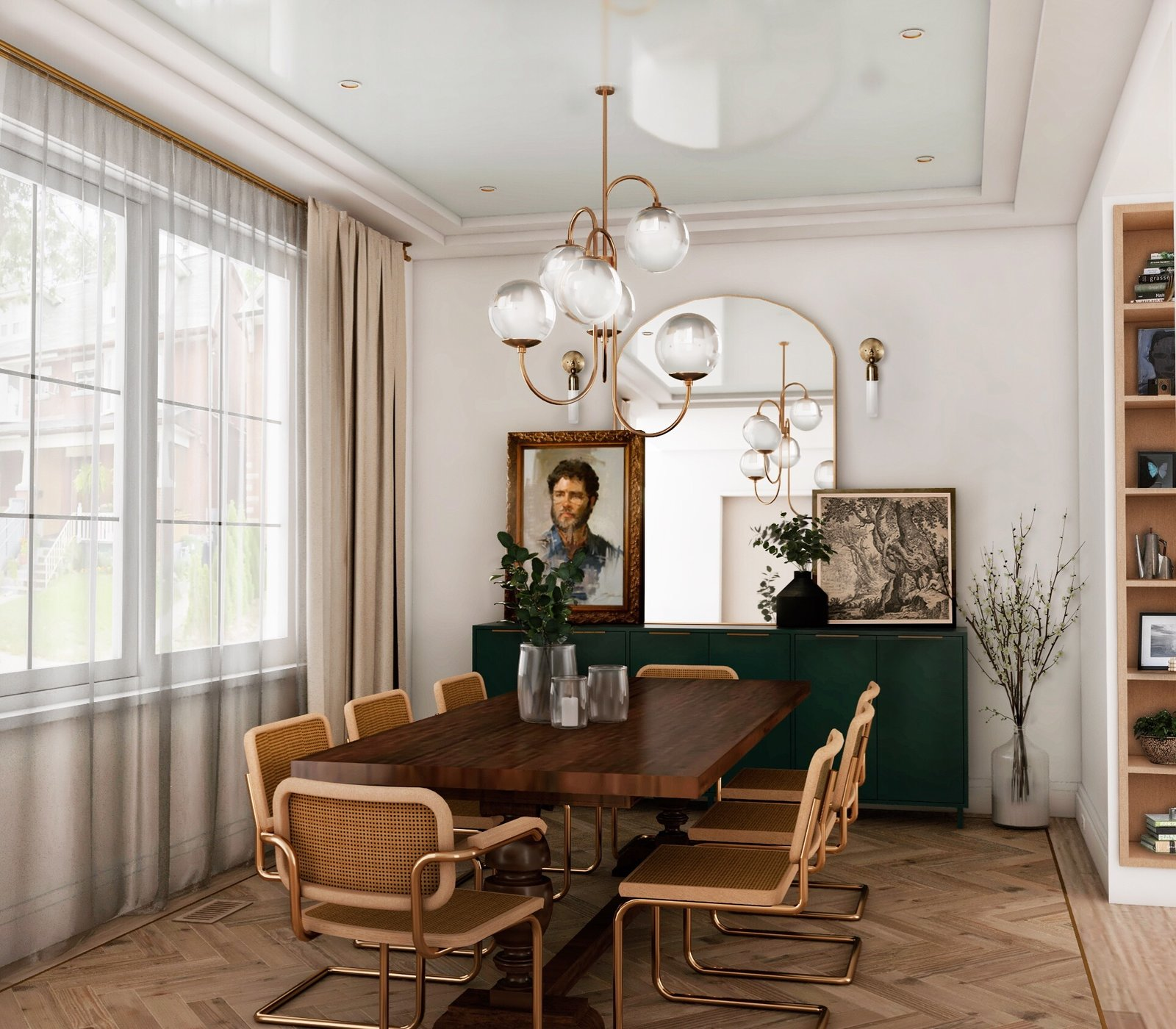 Reimagined Edwardian dining room