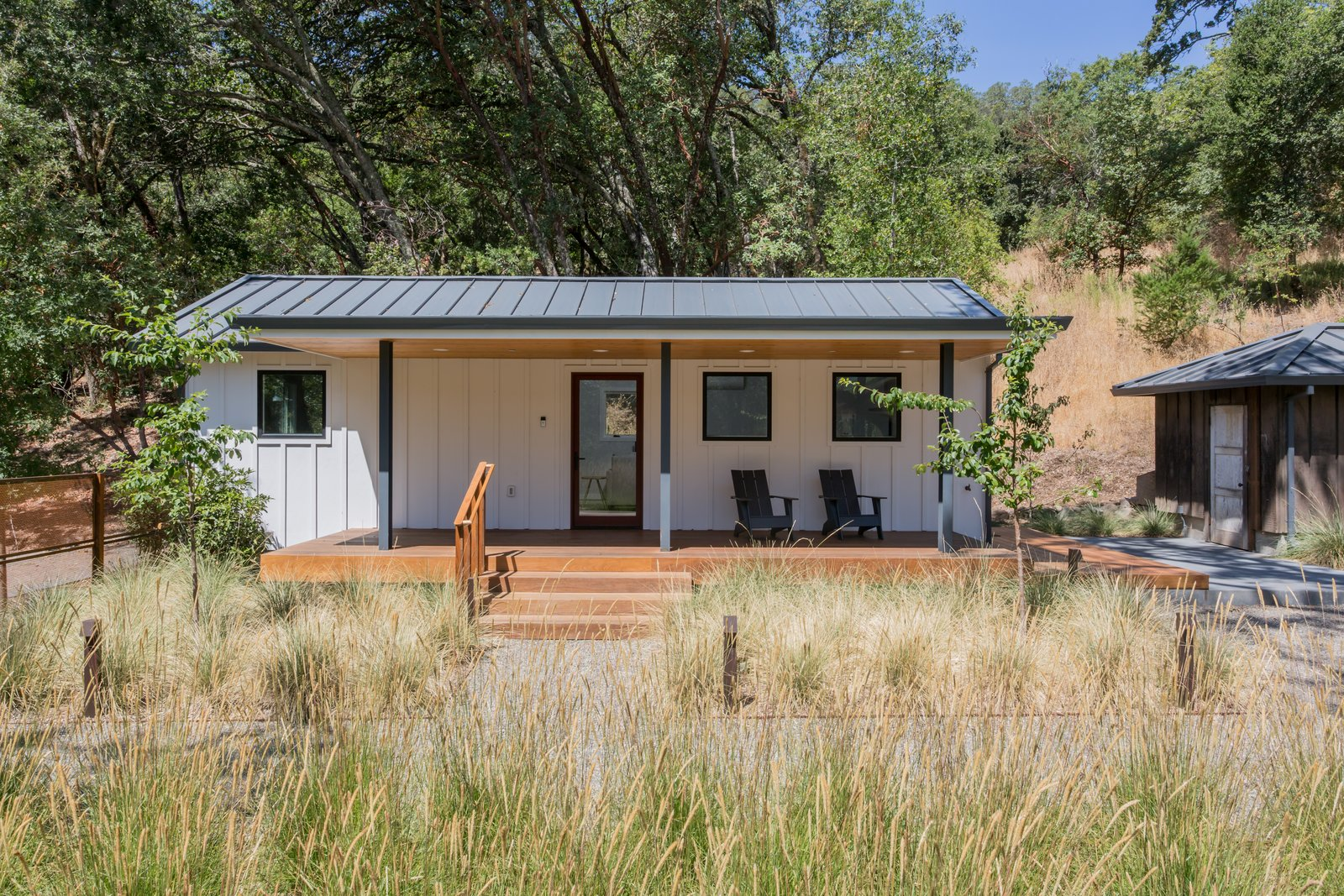 Exterior, Small Home, Metal, and Gable Guest House  Best Exterior Small Home Metal Photos from Wine Country Retreat