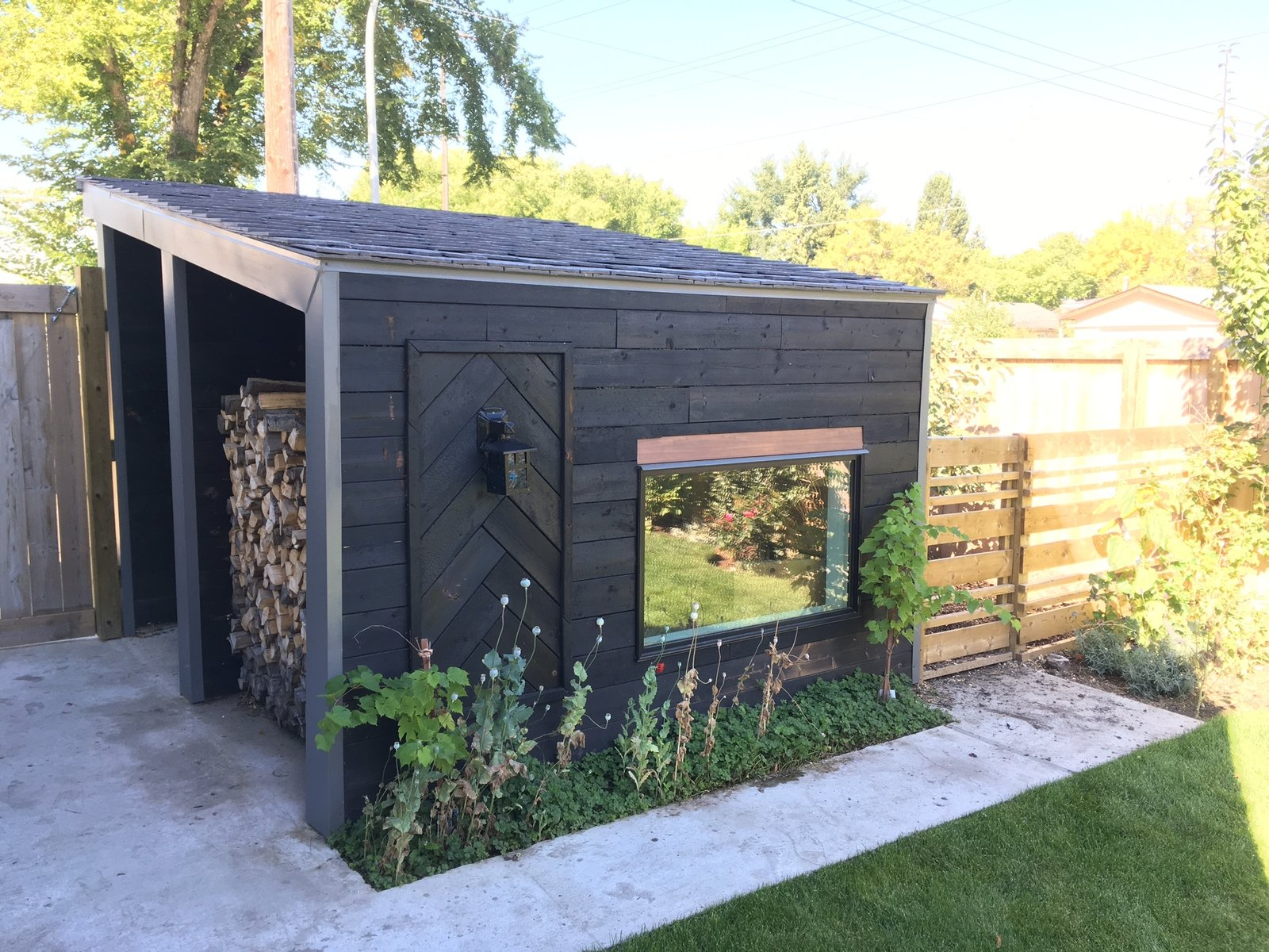Shed & Studio Adjacent Chicken Coop Exterior  Calder Laneway House - Edmonton
