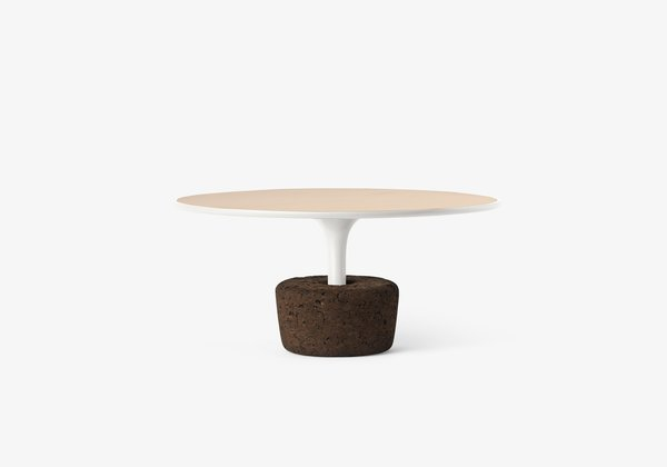 Flora Wide Low  FLORA is a set of coffee tables that refers to the plants we offer to the ones we love, so there is a similarity between taking care of plants and taking care of the objects. These versatile tables combine natural materials, with four sizes and six different colored frame finishes and may be used separately or together.  Size  Ø65 x H30 cm / Ø25,6'' x H11,8''.  Weight  5,7 kg / 12,6 lbs.