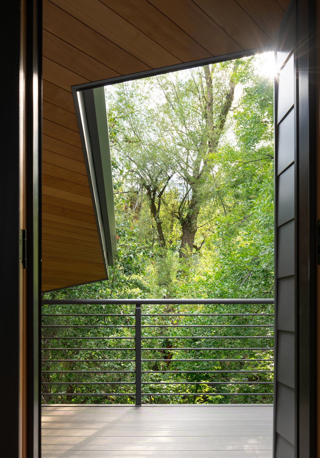 Outdoor, Rooftop, Trees, and Small Patio, Porch, Deck Gregory Creek Residence - Tree Top Deck  Gregory Creek Residence by Gettliffe Architecture