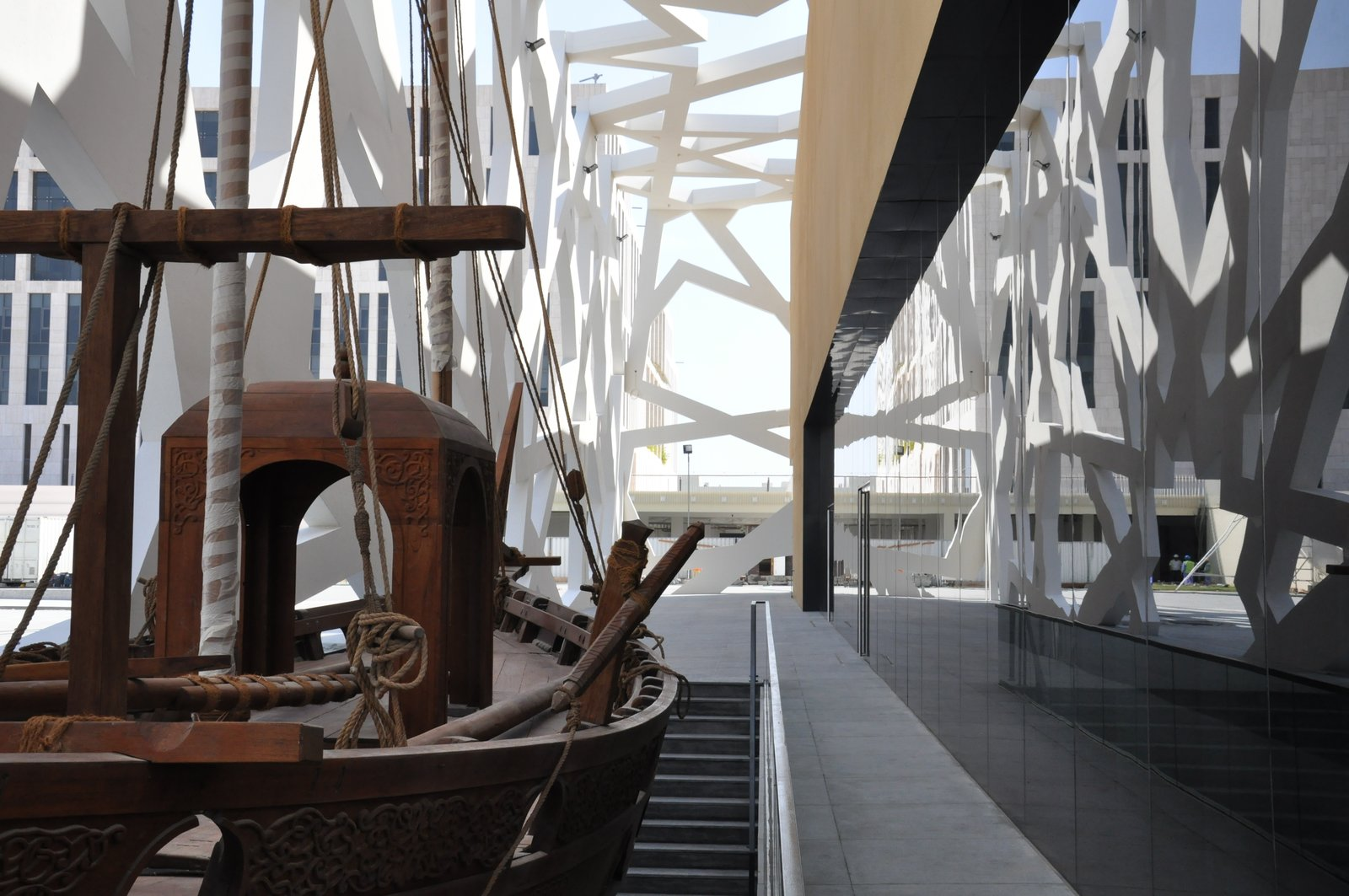 Internal dhow water feature  Conference and Exhibition Hall at GUtech by Hoehler + alSalmy