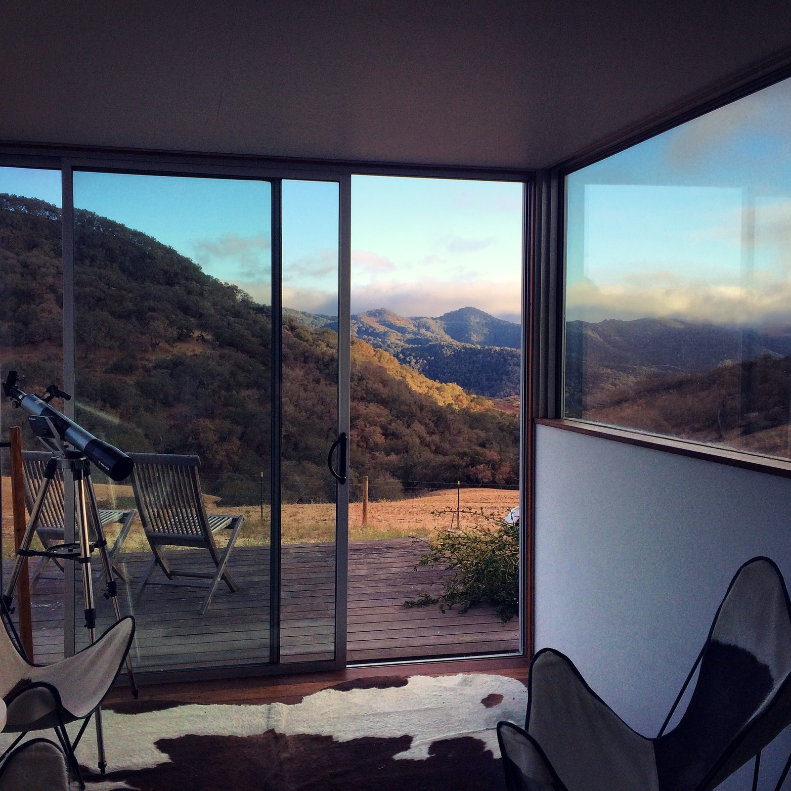 View from inside the main barn  Barking Dog Ranch by kitHAUS