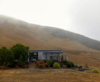 Barn in morning fog Photo 11 of Barking Dog Ranch modern home